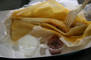 Chase Field tamale.