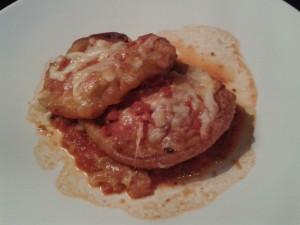 Eggplant, Compania mozzarella cheese, tomato basil sauce