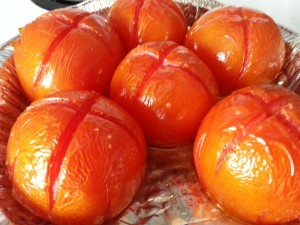 Roasted tomatoes for rustic salsa